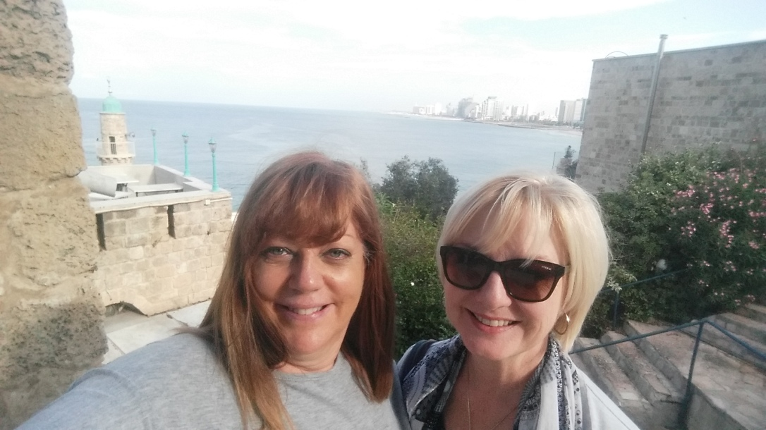 Lisa and Caron in Israel